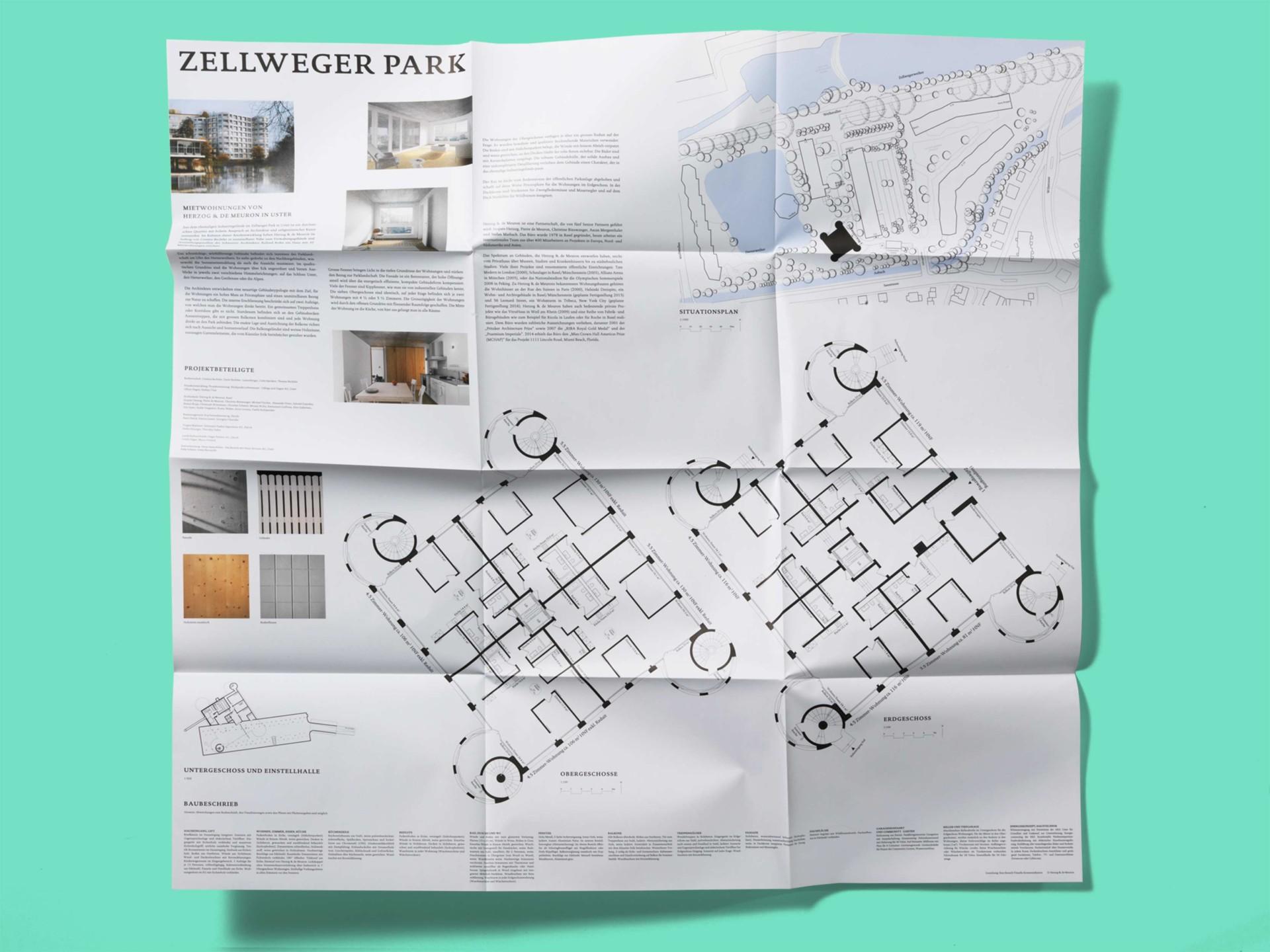 BKVK Zellweger Park — Faltplakat