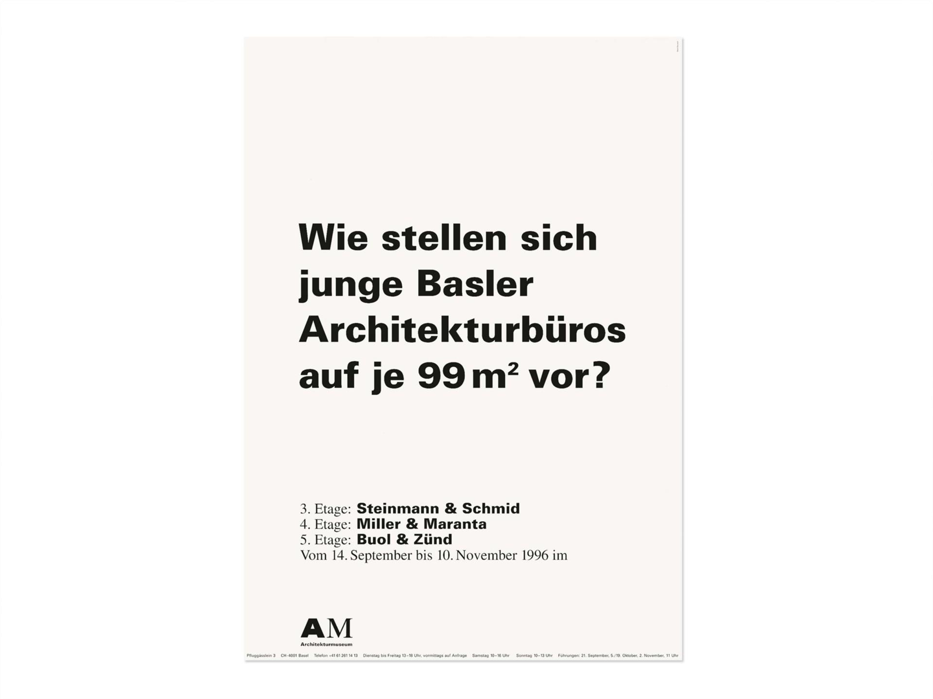 BKVK Schweizerisches Architekturmuseum — Erscheinungsbild