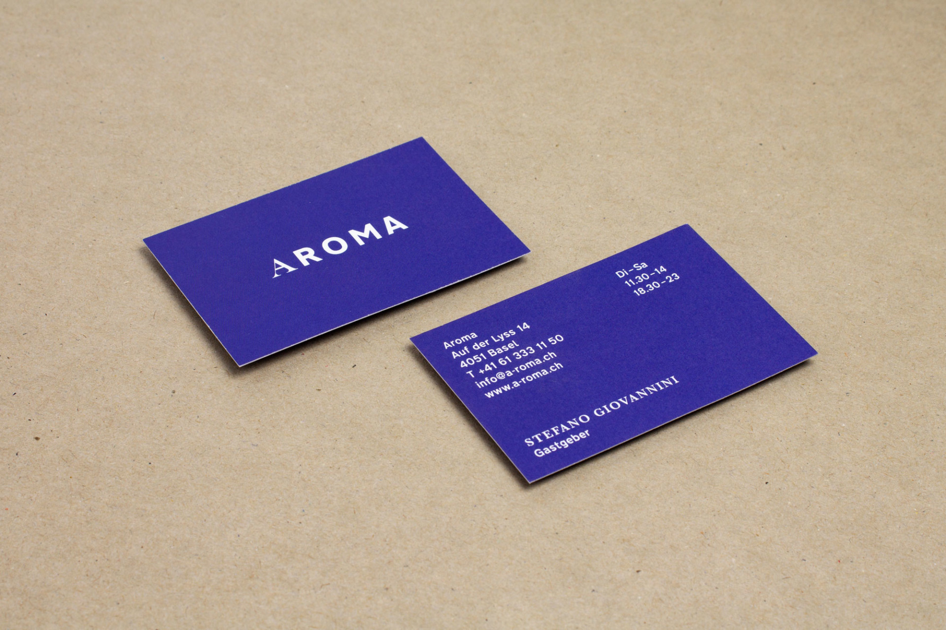 BKVK Trattoria Aroma — Corporate Design